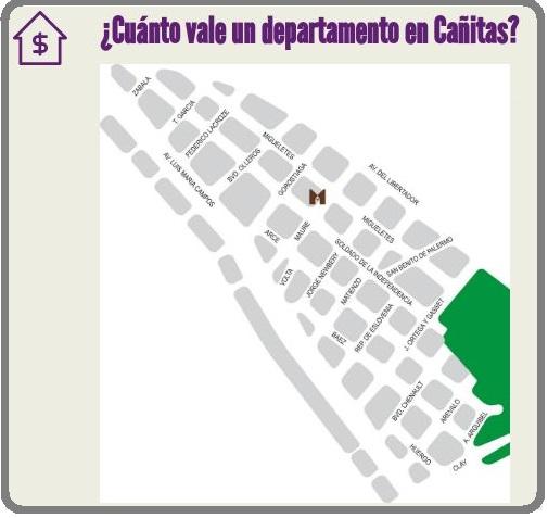 ¿Cuánto vale un departamento en el barrio Las Cañitas ?