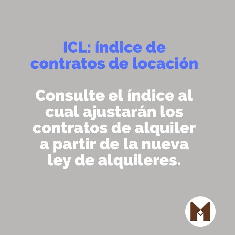 ICL: Indice de ajuste de Contratos de Alquiler