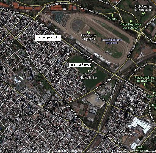 Mapa de Imprenta y Cañitas Satelital