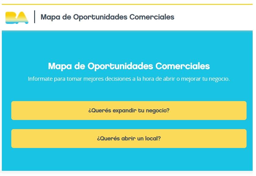 MOC Mapa de Oportunidades Comerciales en Buenos Aires